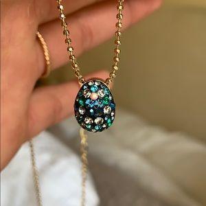 Swarovski Crystal Egg Pendant with Gold Chain